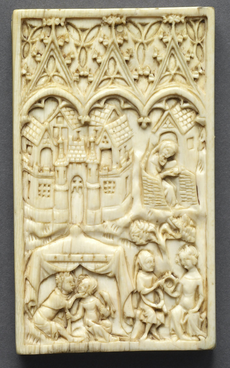 Meeting of Lovers, Ivory tablet (Walters Art Museum, 71.283A)